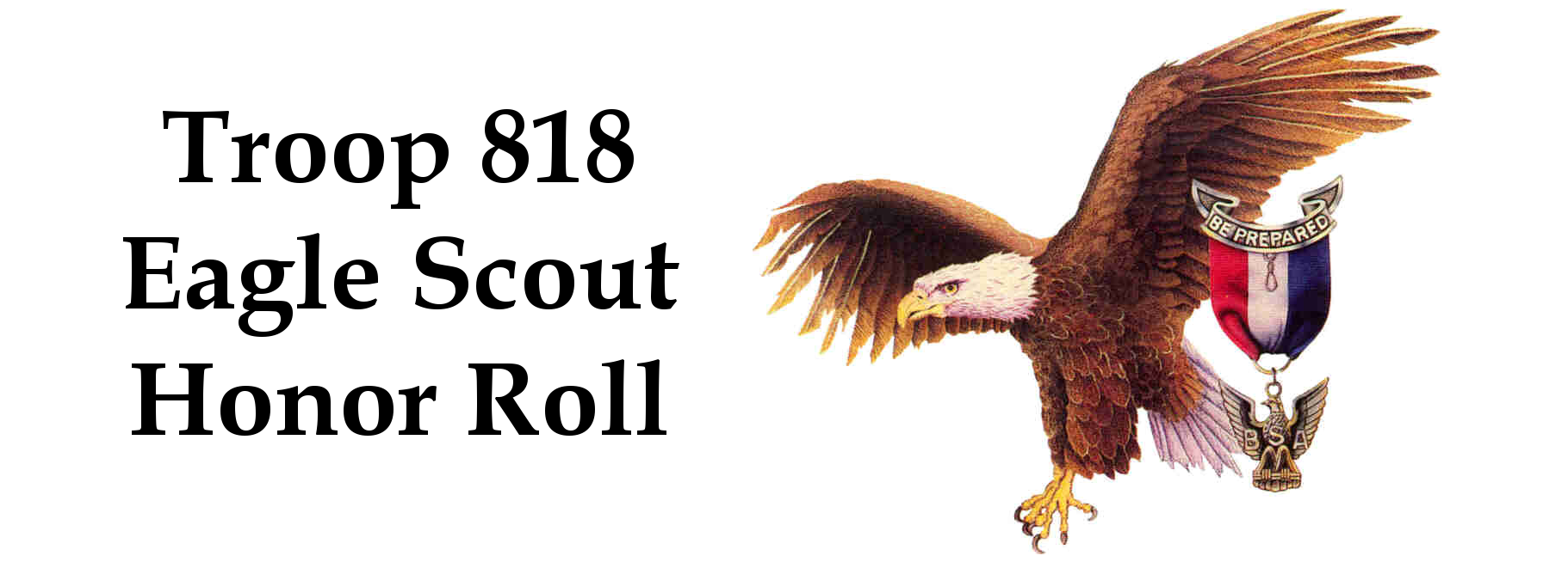 Troop 818 Eagle Scout Honor Roll